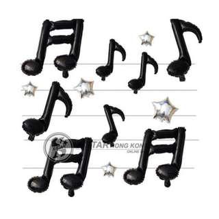 S138477 8音符16音符 鋁膜氣球 音符氣球 音樂會婚慶酒吧舞台裝飾佈置