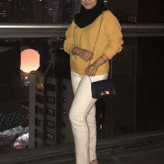 MNG Mustard Knit Top
