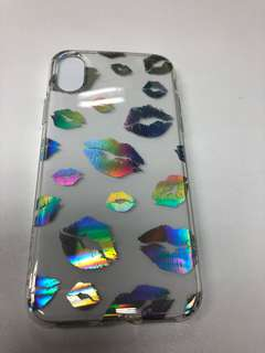 iPhone 8 case with hologram lips