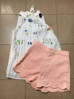P&p top with shorts(pair)