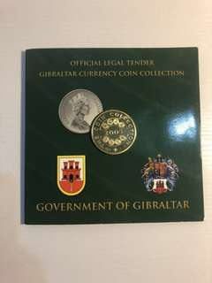 Gibraltar 2005 official coin set minted by Tower Mint with proof medal