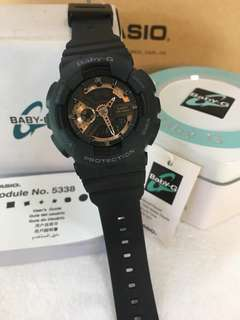 BABYG BLACK ROSEGOLD WATCH