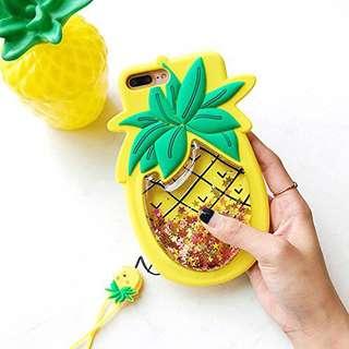 Pineapple glitter case