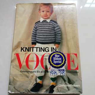 Knitting in Vogue No. 3 book