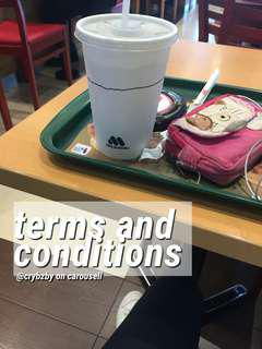terms and conditions ⛄