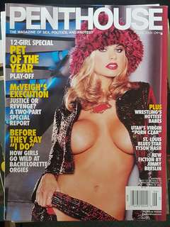 June to December 2001 Penthouse Magazine Edition