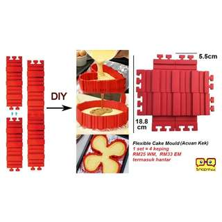 Flexible Cake Mould (1 set = 4 pcs)