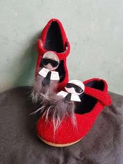 Sepatu anak karlito merah