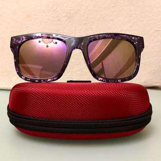 Purple mercury sunglasses 紫色水銀平面太陽眼鏡 like new😍