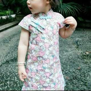 夏季兒童旗袍改良寶寶唐裝裙