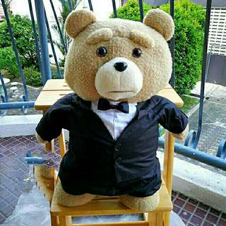 *FREE DELIVERY to WM only / Ready stock* Plush bear Ted in tuxedo each as shown in design/color. Free delivery is applied for this item.