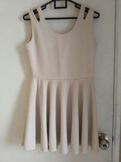 Nude Mini Dress