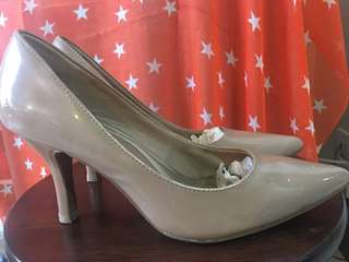 nude colored shoes