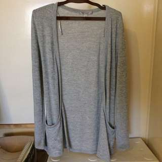 Temt Light Gray Cardigan