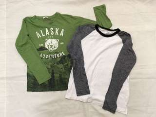 Lot of 2 shirts: H&M and Mango for boys 8-10y
