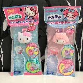 🚚 現貨~日本帶回 mymelody 美樂蒂 Hello kitty 瓶蓋 寶特瓶蓋 女孩的最愛 女童必備