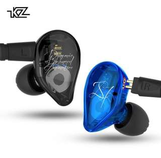 KZ ED16 Earphone 2BA+1DD Armature &Dynamic Hybrid Headset Earphone HiFi Heavy bass Sport Earbuds With 2 pin Cable