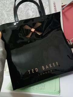 Ted Baker black shopper tote
