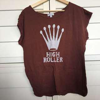 High roller maroon top