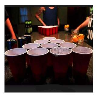 1631936 經典 啤酒 乒乓游戲 娛樂 酒杯 喝酒游戲 乒乓球 的塑料杯 beer pong