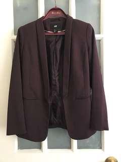 H&M jacket plum