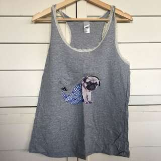 Cute women's pug top