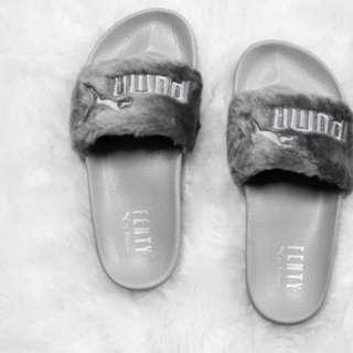 Puma x fenty slides in grey