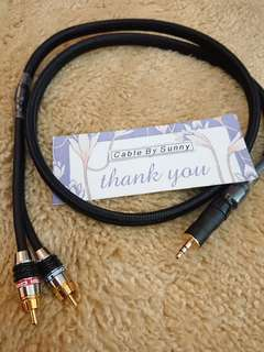 3.5mm to 2xrca audiophile cable