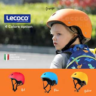 Lecoco Kids Sports Helmet Skateboard Cycling Skating Helmet [READY STOCK]