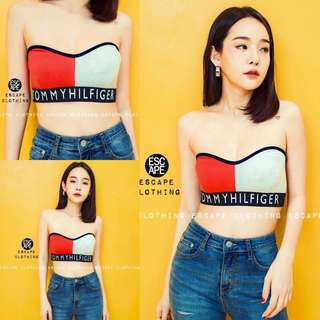 Tommy hifilger strapless top