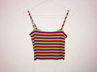 COLOURFUL CROP SINGLET