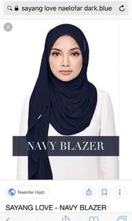 Preloved Sayang Love instant shawl