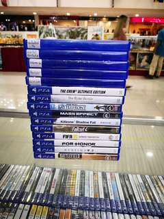 Ps4 Games used 15pcs Rm500 free postage 0124140307 WhatsApp