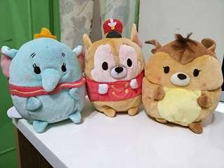 🚚 (正版)日本 迪士尼 ufufy 棉花糖 軟綿綿 香氣 香氛娃娃 小飛象 提姆 小鹿斑比