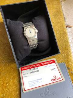Omega Constellation Diamond Dot Quartz Watch