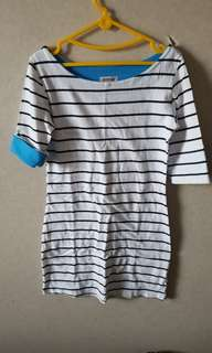 Panelli stripes mini dress