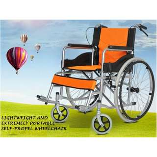 BRAND NEW LIGHT WEIGHT AND PORTABLE SELF PROPEL WHEELCHAIR