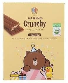 🚚 韓國機場免稅代購 COLOMBIN LINE FRIENDS 巧克力脆餅禮盒 20入