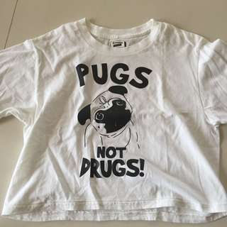 Put Not Drugs Cropped Top
