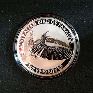2018 Bird of Paradise Perth Mint 1 oz Silver Coin