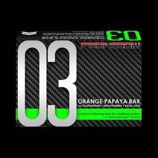 03 ORANGE PAPAYA BAR with GLUTATHIONE + SKIN VITAMINS + KOJIC ACID