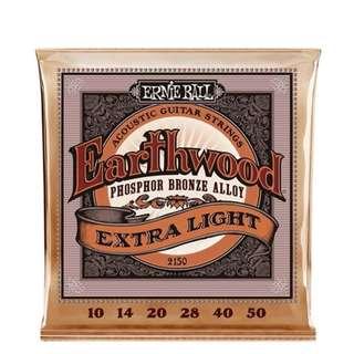 Ernie Ball 2150 Earthwood Extra Light Phosphor Bronze Acoustic Guitar Strings