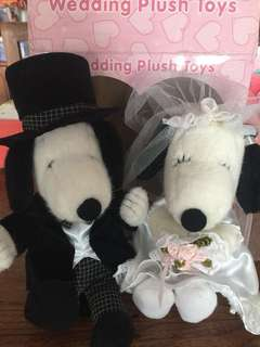 Peanuts Snoopy Plush Marry doll set 結婚