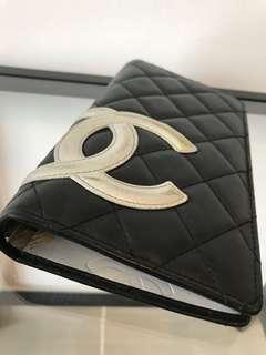 Chanel Calfskin Quilted Ligne Cambon Yen wallet