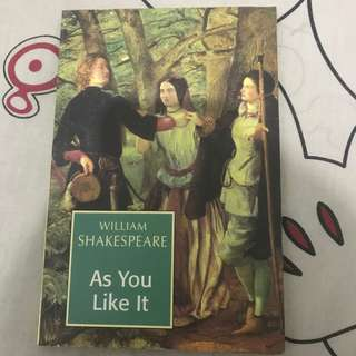 novel william shakespeare 'as you like it'