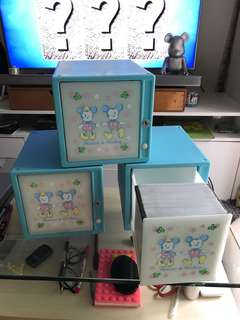 Minnie &Mickey cd rack x3