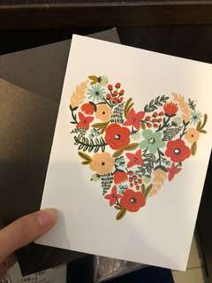 Floral gift card - heart