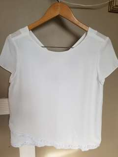 Zara white sexy back blouse