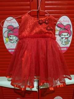 Preloved Dress Brukat Rok Tile Dress Korea