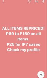 REPRICED ALL ITEMS!!!